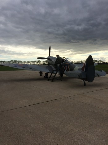 Spitfire on the Apron at Goodwood